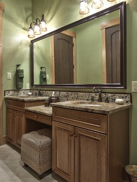 Double Vanity with Seating
