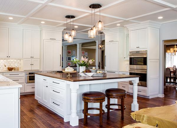 Over-Size Work Island Anchors Spacious Kitchen