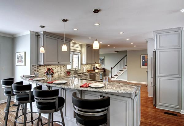 Open Kitchen Layout Provides Easy Accessibility